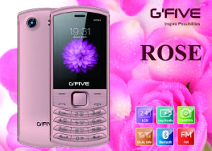 Gfive Rose Feature Phone with FCC, Ce, 3c