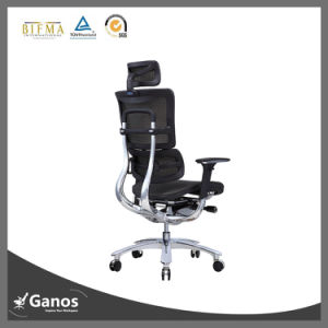 Reception Office Furniture High Back Boss Chair with Stool pictures & photos