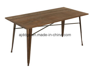 Wooden Base Iron Table Metal Table pictures & photos