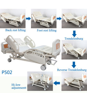 Ce&ISO CPR Five Functions Electric Hospital Furniture, Electric Patient Bed Remote Control pictures & photos