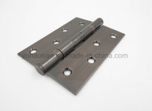 "Customize Avaliable Square Corners Five Knuckle Ballbearing 4"" Steel Door Hinge pictures & photos"