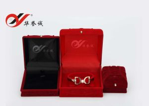 Embossed Velvet Ring Pendant Bangle Box pictures & photos