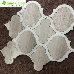 Lantern Shape White Carrara Mosaic Tiles for Art Design pictures & photos