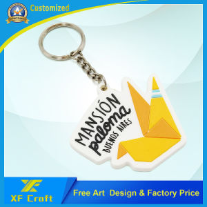 Manufacturer Custom Hot Style Soft PVC Plastic Keychain with Logo (XF-KC-P02) pictures & photos