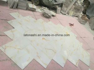 Natural Polished White Onyx Marble Tile for Kitchen, Hotel Decorations pictures & photos