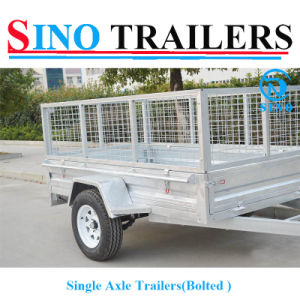 Single Axle Bolted Cage Trailers with Excellent Quality pictures & photos