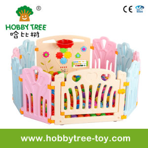 2017 Hot Selling Plasic Indoor Baby Playpen with Game Fence (HBS17067A) pictures & photos