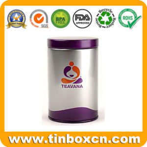 Round Tin Tea Can for Tea Caddy Packing, Tin Box pictures & photos