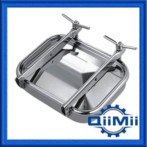 Stainless Steel Rectangular Tank Manway with Two or One Intersectant Arms pictures & photos