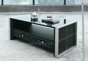 Office Modern Style Coffee Table with Tempered Glass (CT-V1) pictures & photos
