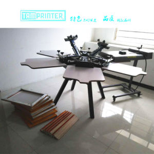 TM-R6k 6 Color 6 Station Silk Screen Printing Machine pictures & photos