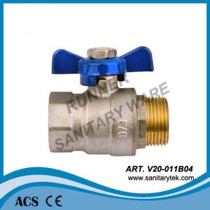 Forged Brass Ball Valve with Butterfly Handle (V20-011B04) pictures & photos