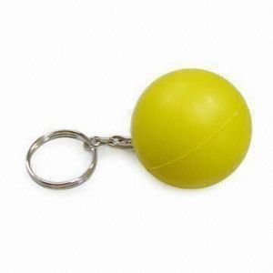 Round Shape PU Stress Toy Keychain Stress Balls pictures & photos