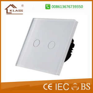 EU/UK 2gang Touch Sensitive LED Dimmer Switch for LED Lights pictures & photos