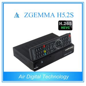 H. 265/Hevc Satellite Receiver& Decoder Zgemma H5.2s Dual Core Linux OS Enigma2 DVB-S2+S2 Twin Tuners pictures & photos