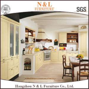 Custom Made Modern Home Furniture PVC Wood Kitchen Cabinet Furniture pictures & photos