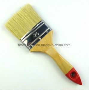 White Bristle Paint Brush with Varnished Wooden Handle with Red Tip pictures & photos