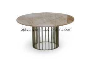 Marble Top Dining Table Round Table (LS-225) pictures & photos