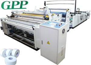 Automatic High Speed Rewinding Jumbo Roll Toilet Tissue Machine pictures & photos