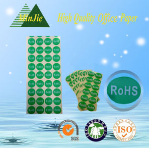 Colourful Printed Green Coated Paper Self Adhesive Sticker and Label