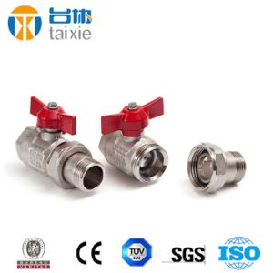 Made in China Quality Brass Plated Male Ball Valve (AV10080) pictures & photos