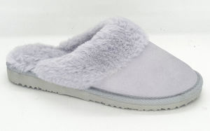 Women′s Slippers with Real Leather