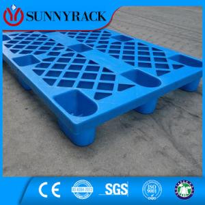 Single Face Blue Color Virgin Material Nine Feet Type Plastic Pallet