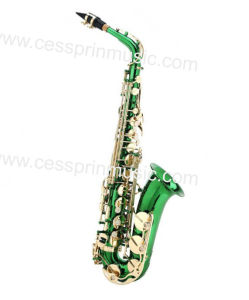 Hot Sell/Alto Saxophone /Color Saxophone / Woodwinds /Cessprin Music (CPAS005) / Green pictures & photos