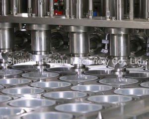 Yogurt Cup Filling Sealing Machine for Plastic Packaging pictures & photos