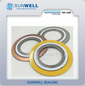 PTFE Product Gaskets Spiral Wound PTFE Filler Gasket (SUNWELL) pictures & photos