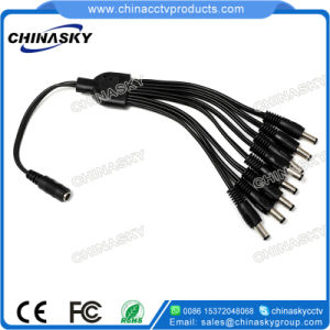 Male to Female 5.5*2.1 DC Plug Power Splitter Cable (SP1-8H) pictures & photos