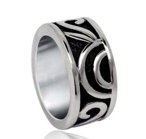 Matt Black Men′s Ring Stainless Steel Simple Punk pictures & photos