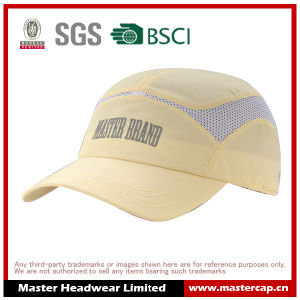 Polyester Microfiber Sports Cap with Rubber Printing