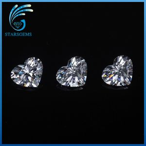Hot Sale Low Price 5X5mm Heart Shape Heat-Resistant CZ Stoens Cubic Zirconia pictures & photos