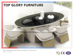 Patio Leisure Garden Outdoor Modern Rattan Dining Table Chair Furniture (TG-1222) pictures & photos