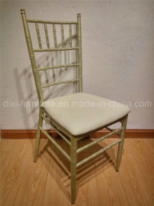 Wedding Aluminum Chiavari Chair with Fixed PU Leather Seat Cushion pictures & photos