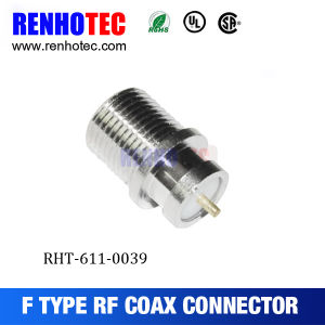 F Female Type Circular Waterproof RF Connector for PCB Board pictures & photos