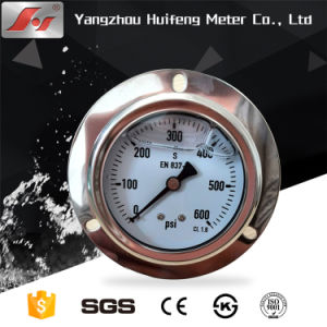 "2.5"" Y60 60mm Stainless Steel Liquid Oil Filled Pressure Gauge pictures & photos"