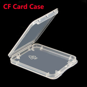 Factory Price Plastic Transparent CF Memory Card Holder Case pictures & photos