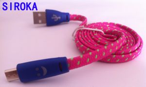Micro USB Cable, Popular Braided USB Data Cable Micro USB Cable for Cell Phone pictures & photos