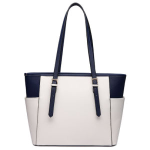 Designer Contrast Color PU Tote Bag Women Shoudler Bag pictures & photos