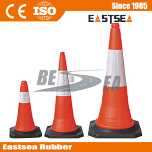Red Color Black Base Plastic PE Road Traffic Cone pictures & photos