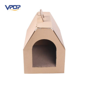 House Shaped Cardboard Cat Bed Corrugated Scraching House pictures & photos