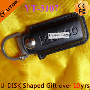 Hot Business Style Gift Leather USB Pen Drive (YT-5103) pictures & photos