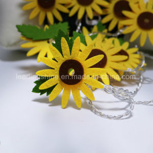 Non-Woven Fabric Sun Flower Flexible and Extendable Twinkling String Lights with Indoor pictures & photos