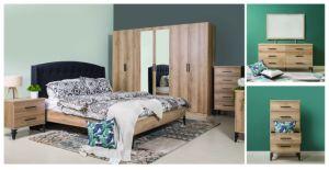 New Elegant Wooden Furniture Pack Modern Bedroom Set (HC12032) pictures & photos