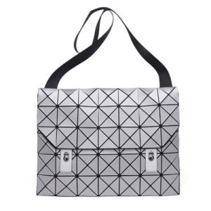 Grey Rhombic Geometry PU Unisex PU Hand Bag (A0113-2) pictures & photos