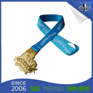 100% Eco-Friendly Polyester Material Double Face Customized Medal Ribbon pictures & photos