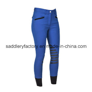 Horse Riding Silicone Breeches for Lady (SMB4001) pictures & photos