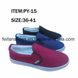 Classical Women Casual Shoes Injection Canvas Shoes (FFPY0415-11) pictures & photos